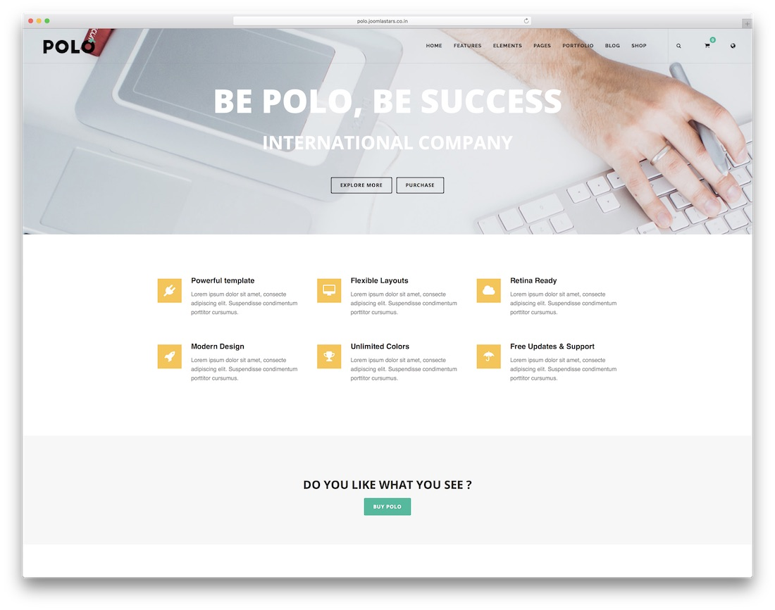 polo joomla business template