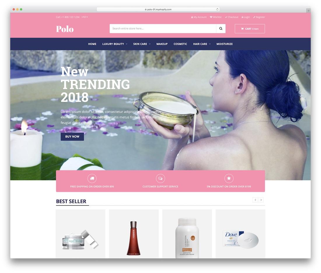 polo shopify technology theme