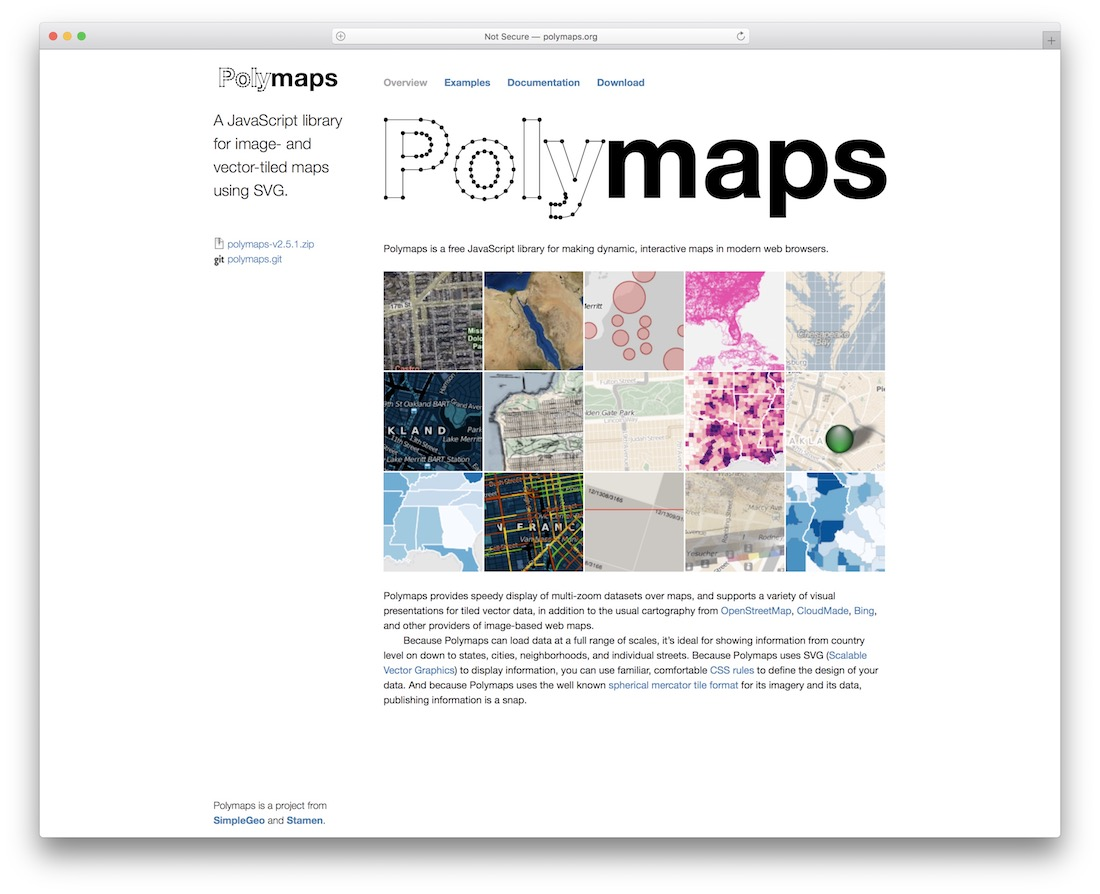polymaps jquery map plugin