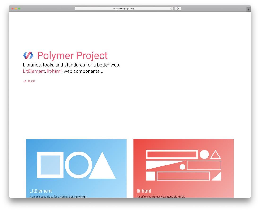 polymer javascript framework