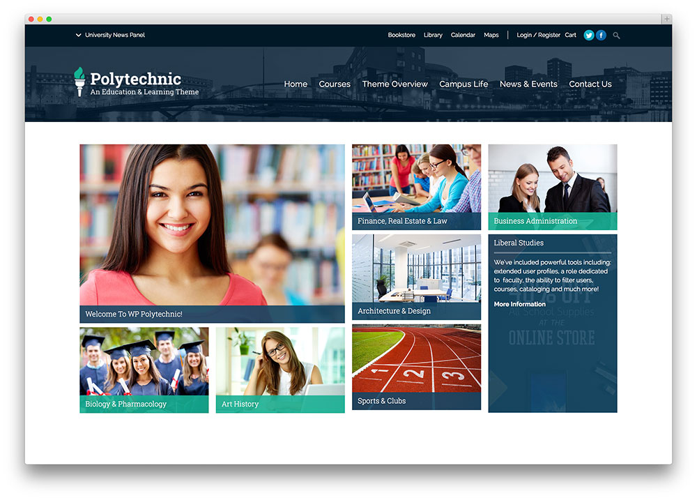 polytechinc - classic education theme