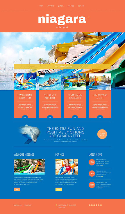 Your hands on experience 30 free and premium website templates amusement park responsive wordpress theme pronofoot35fo Image collections