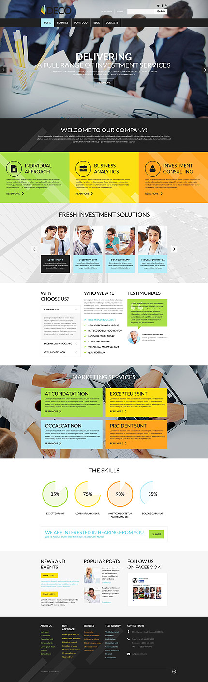 Safe Investment WordPress Theme