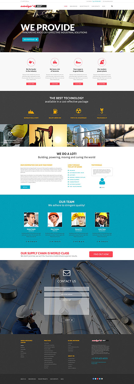 Industrial Agency WordPress Theme