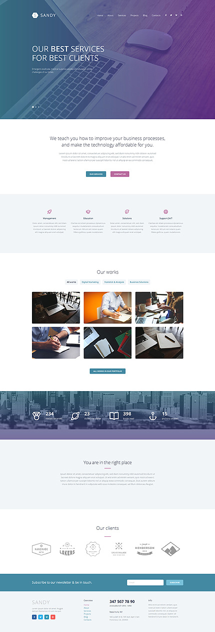 Your hands on experience 30 free and premium website templates web design responsive wordpress theme pronofoot35fo Choice Image
