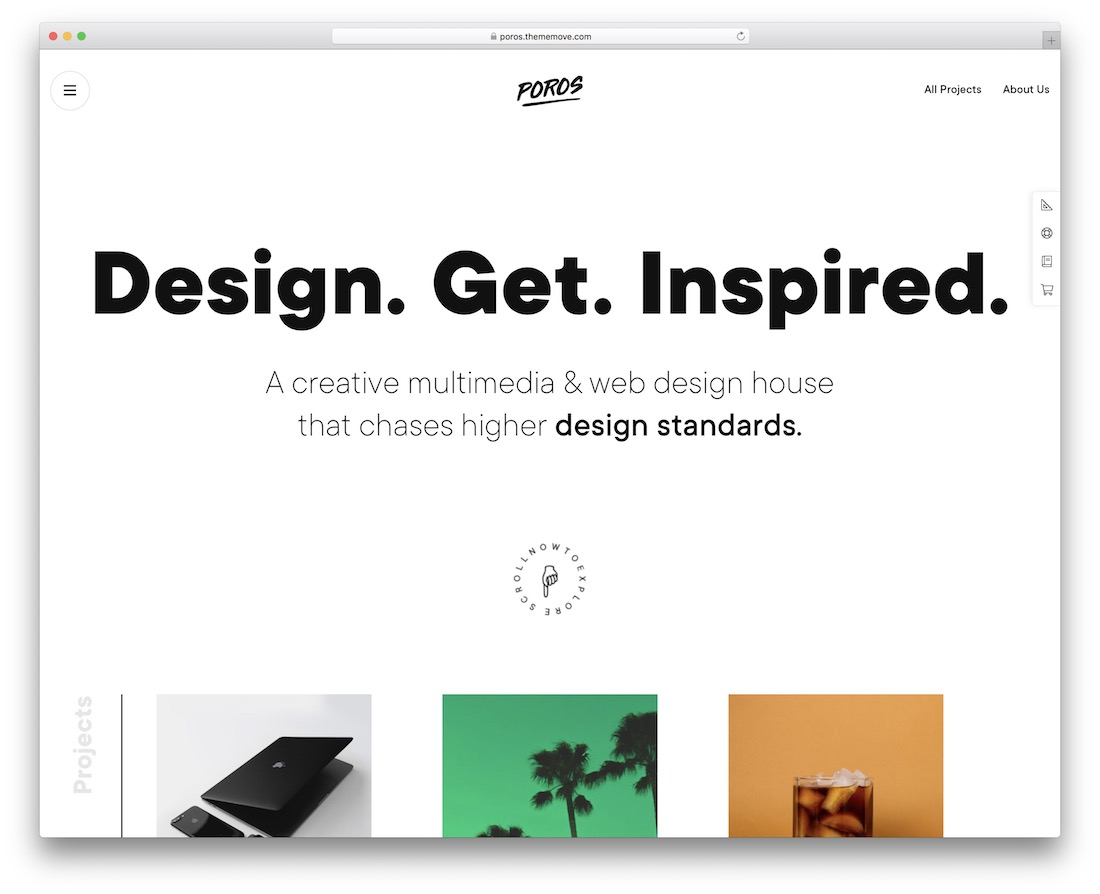 poros simple website template