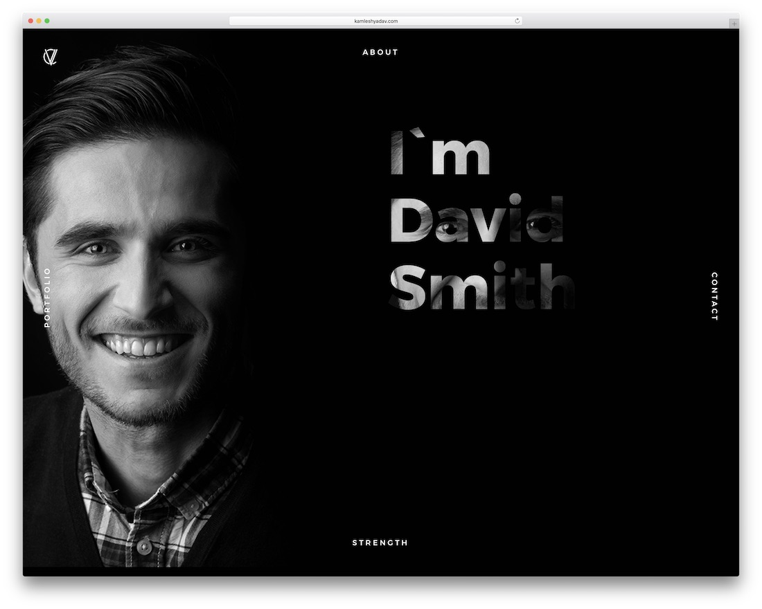 portfolio and cv grid website template