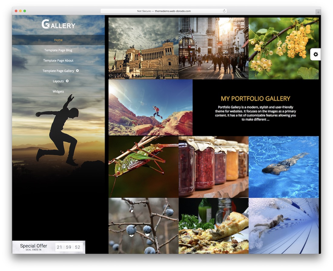 portfolio free gallery wordpress theme