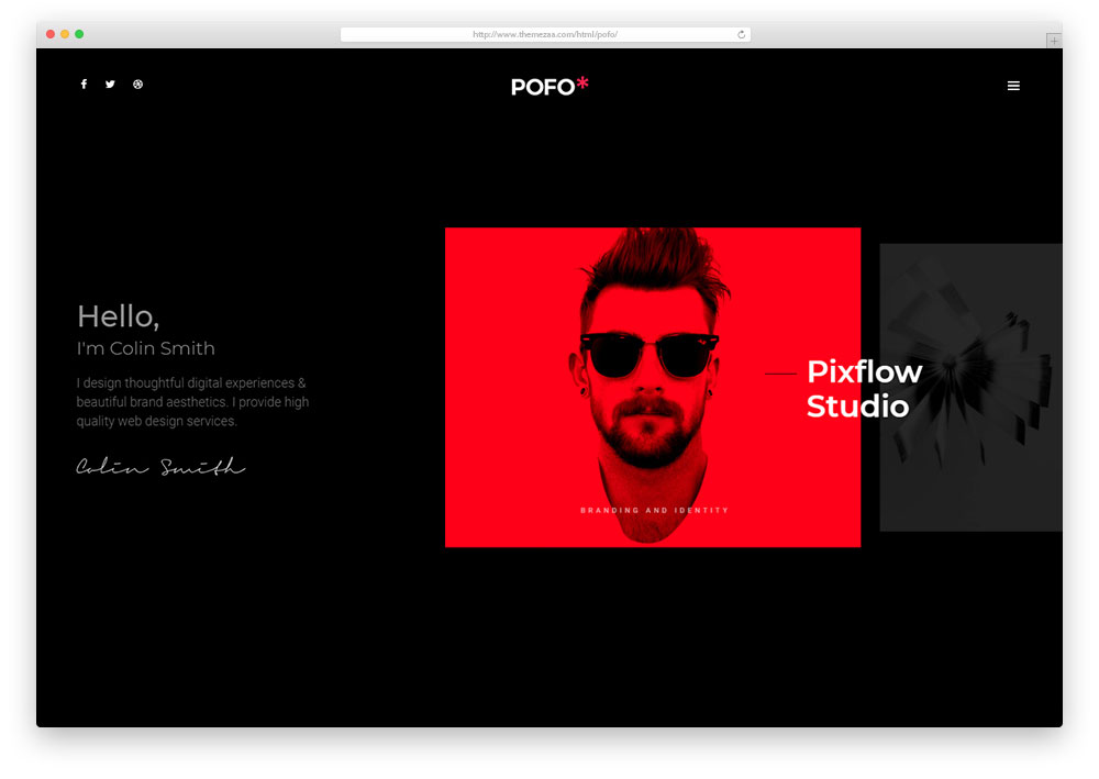 if you want build a professional portfolio website you are in the right place pofo is a creative html5css3 blog website template