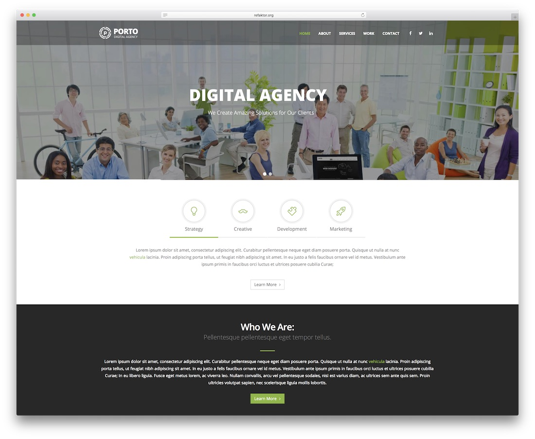 porto drupal business template
