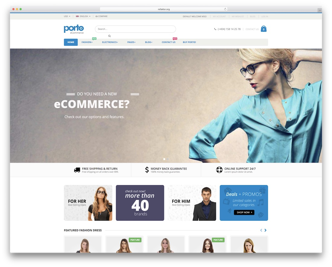porto responsive drupal ecommerce template