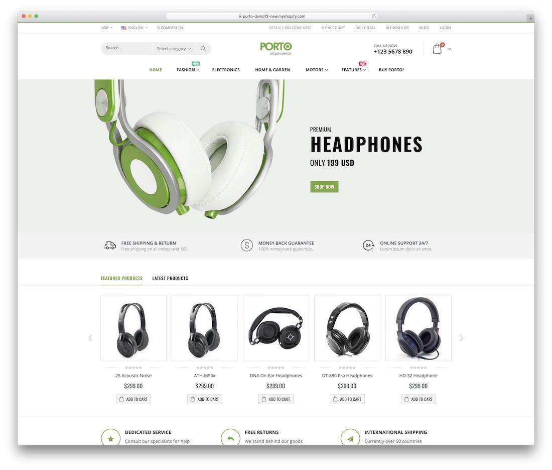 porto shopify technology theme