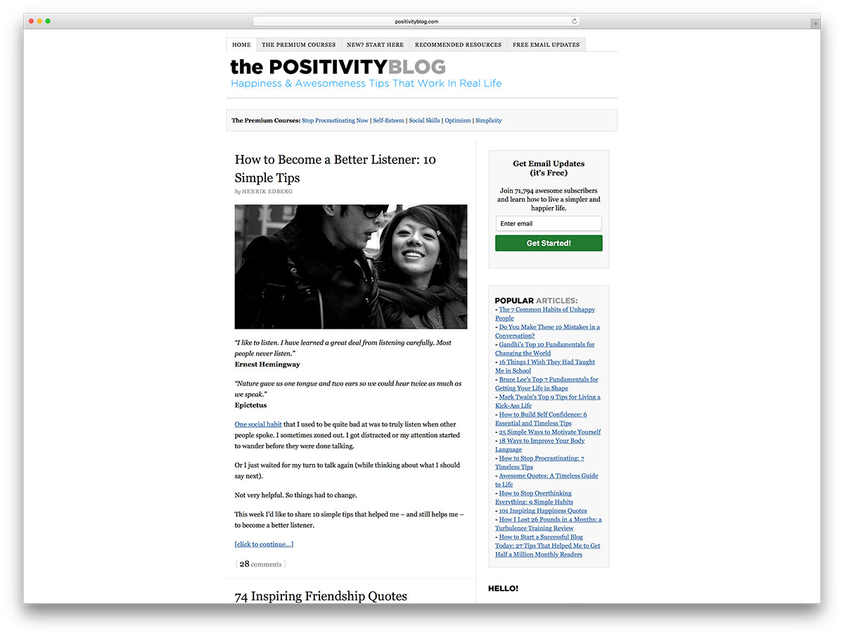 positivityblog-personal-wordpress-blog-example