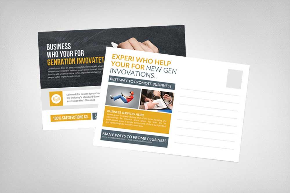 postcard design free mockups
