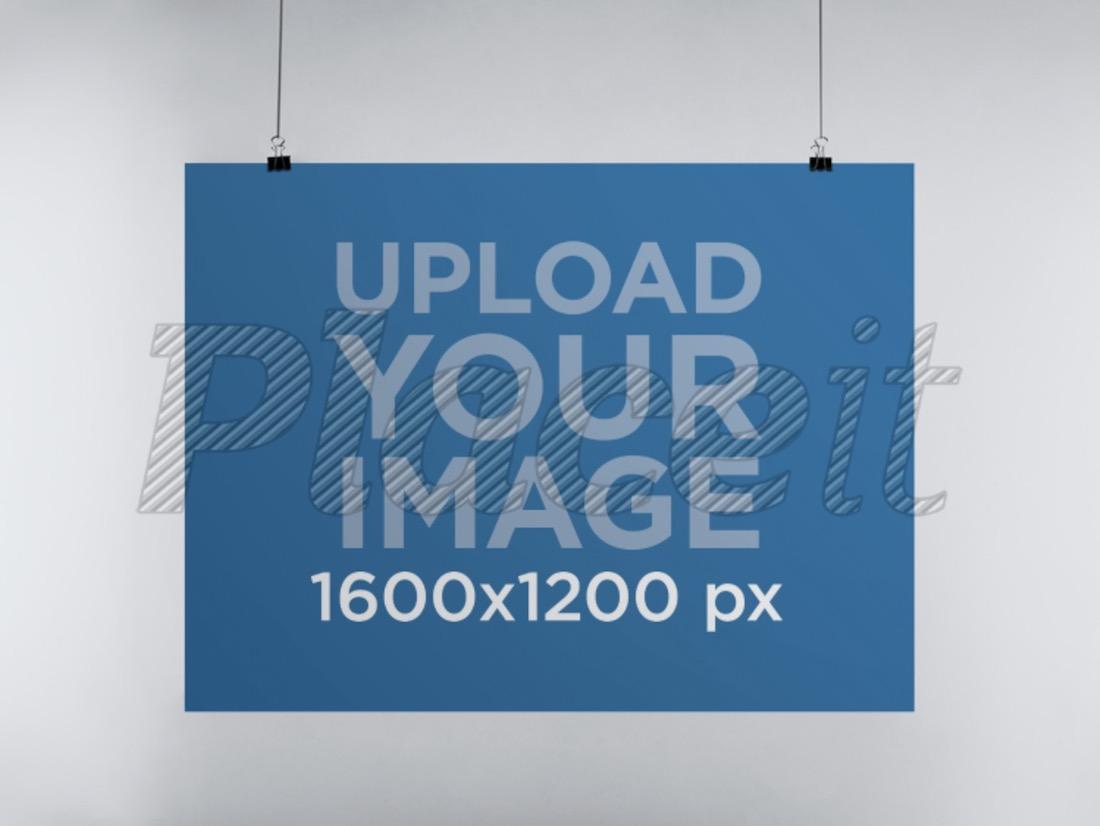 poster mockup in landscape position