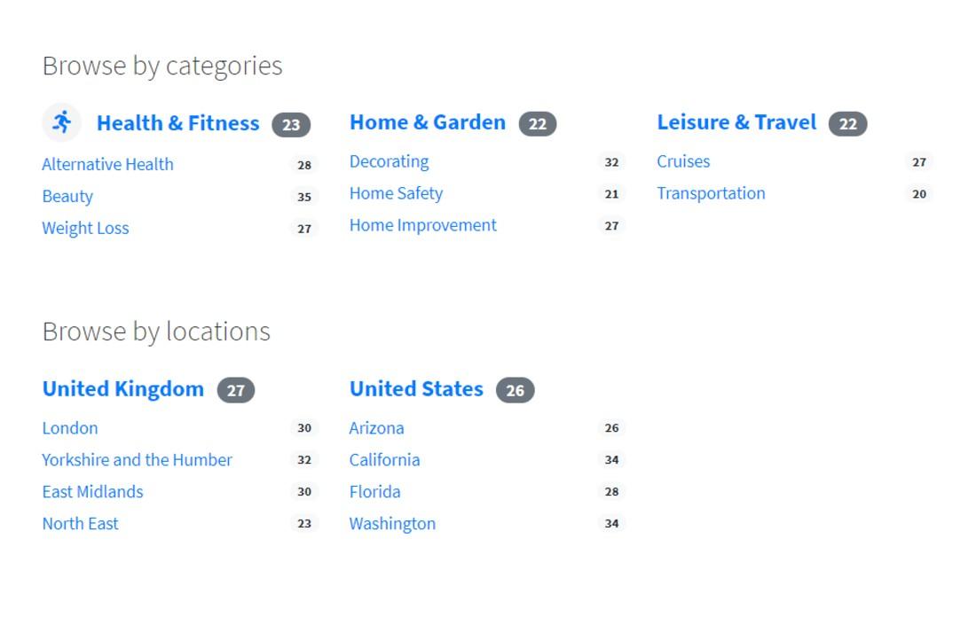 Categorized WordPress Classified Plugins