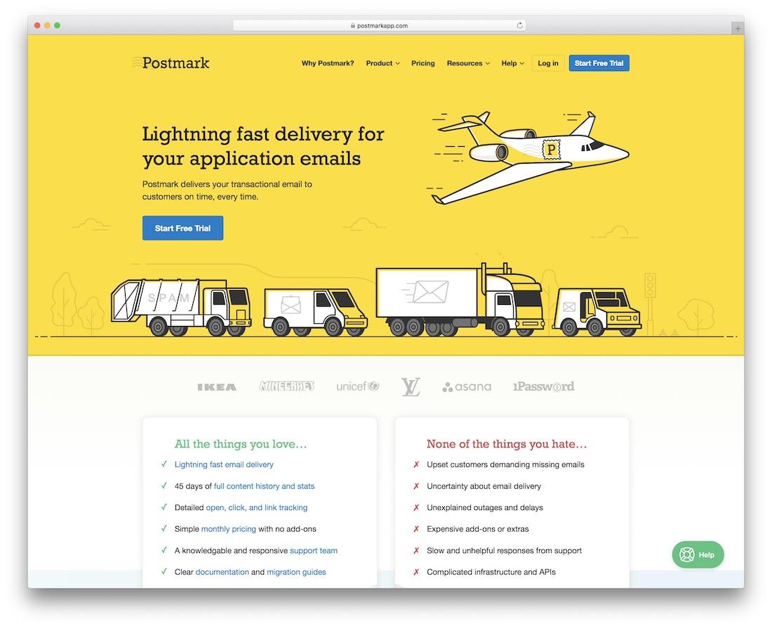 postmark email platform for applications