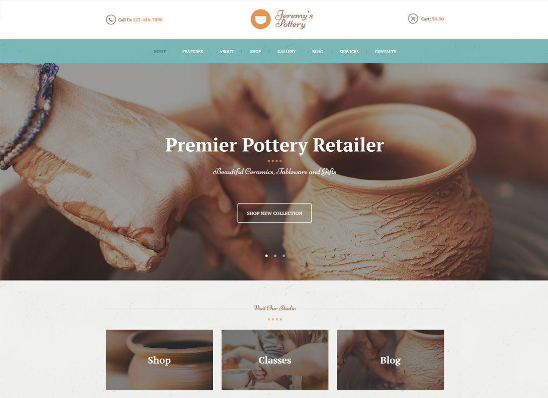 Pottery and Ceramics WordPress Theme