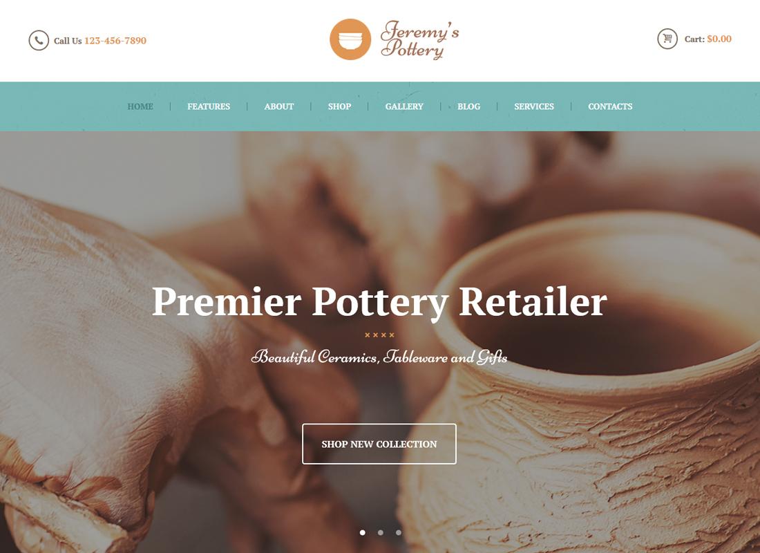 Feremy's Pottery   Pottery and Ceramics WordPress Theme