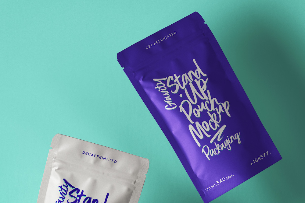 pouch packaging psd mockup