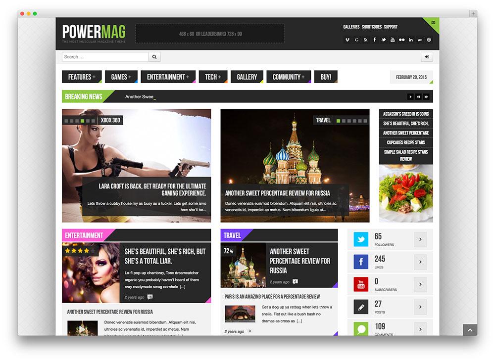 powermag - gaming magazine layout