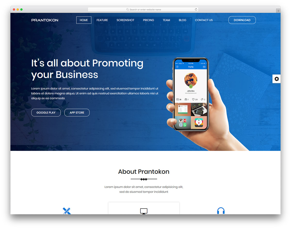 Prantokon Is A Fantastic One Page Website Template With Multiple Solutions For Your New And Freshly Crafted It Focused On S But You Can Use
