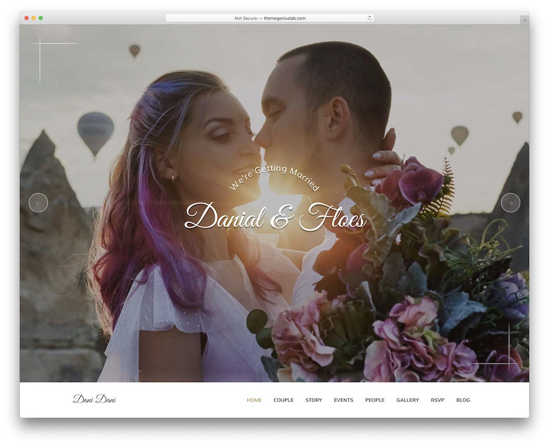 pratty wordpress wedding theme