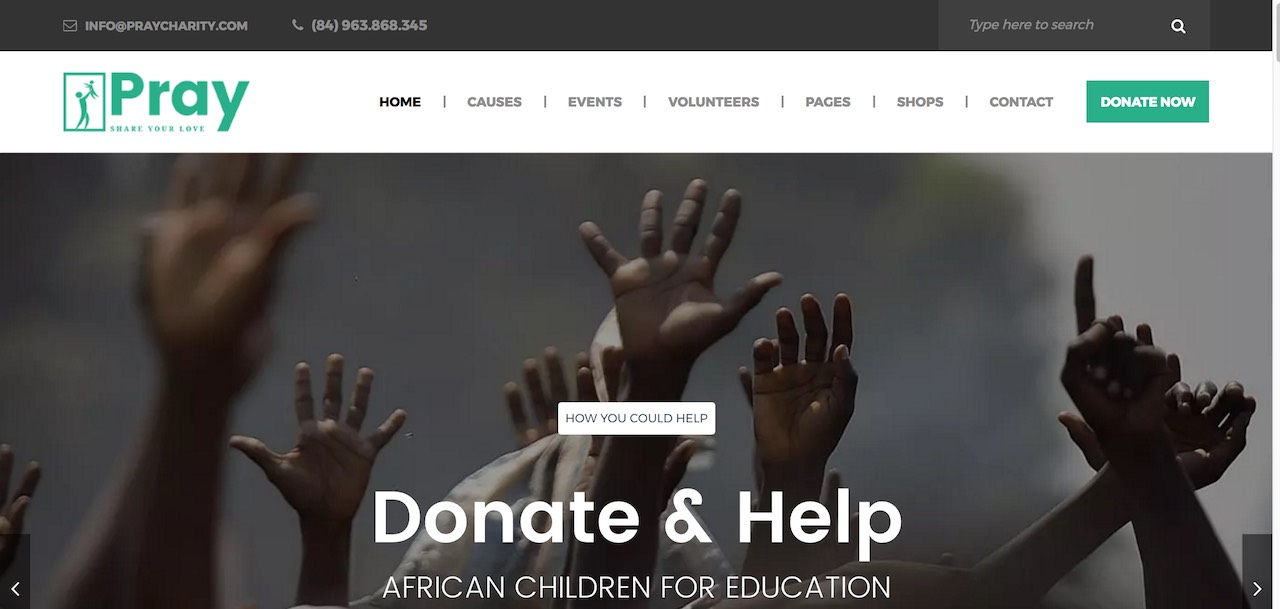 pray-charity-nonprofit-fundraising-wordpress-CL