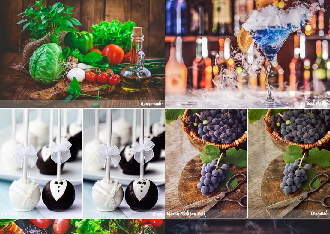 premium food photography lightroom presets