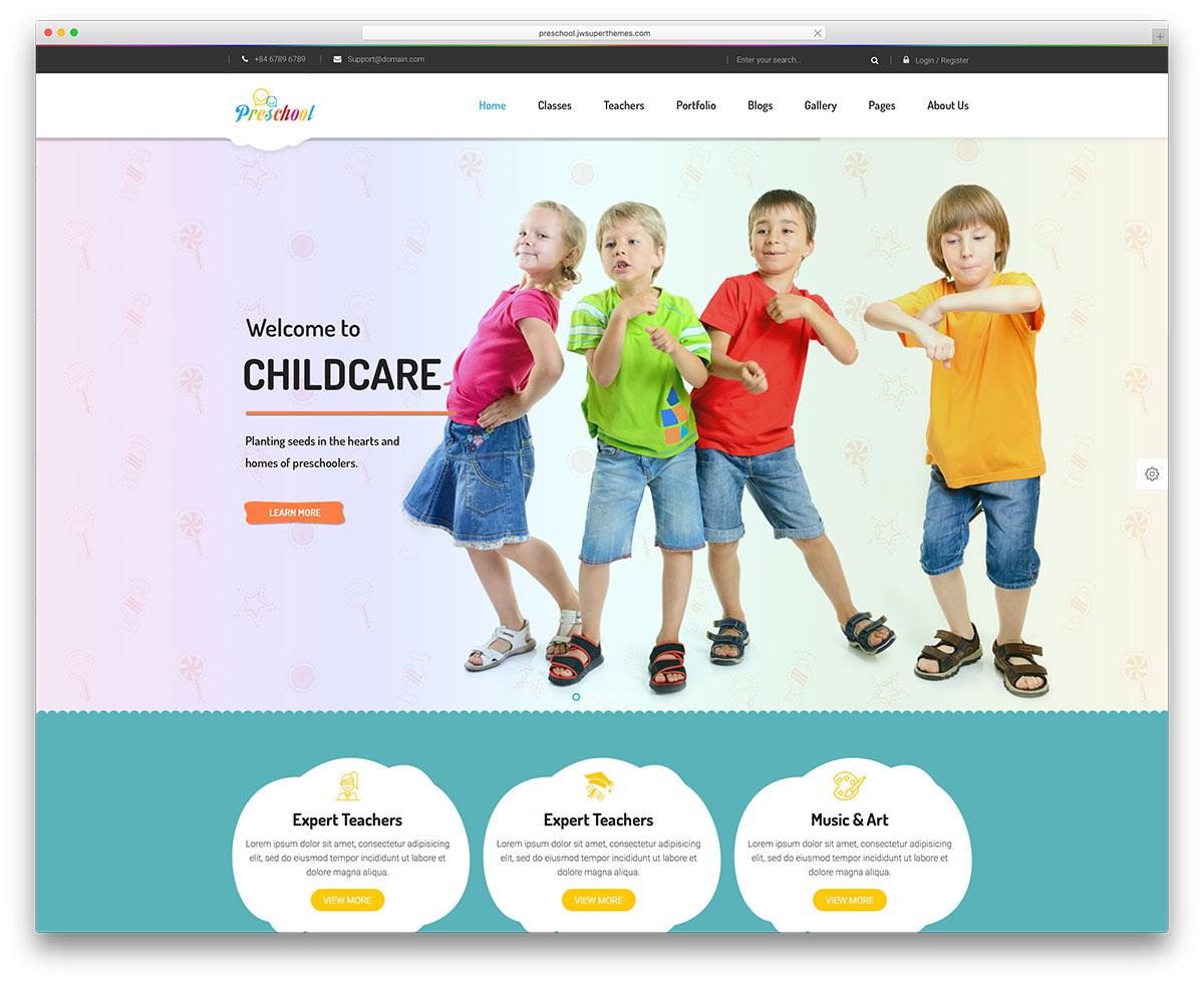 preschool-wordpress-website-template
