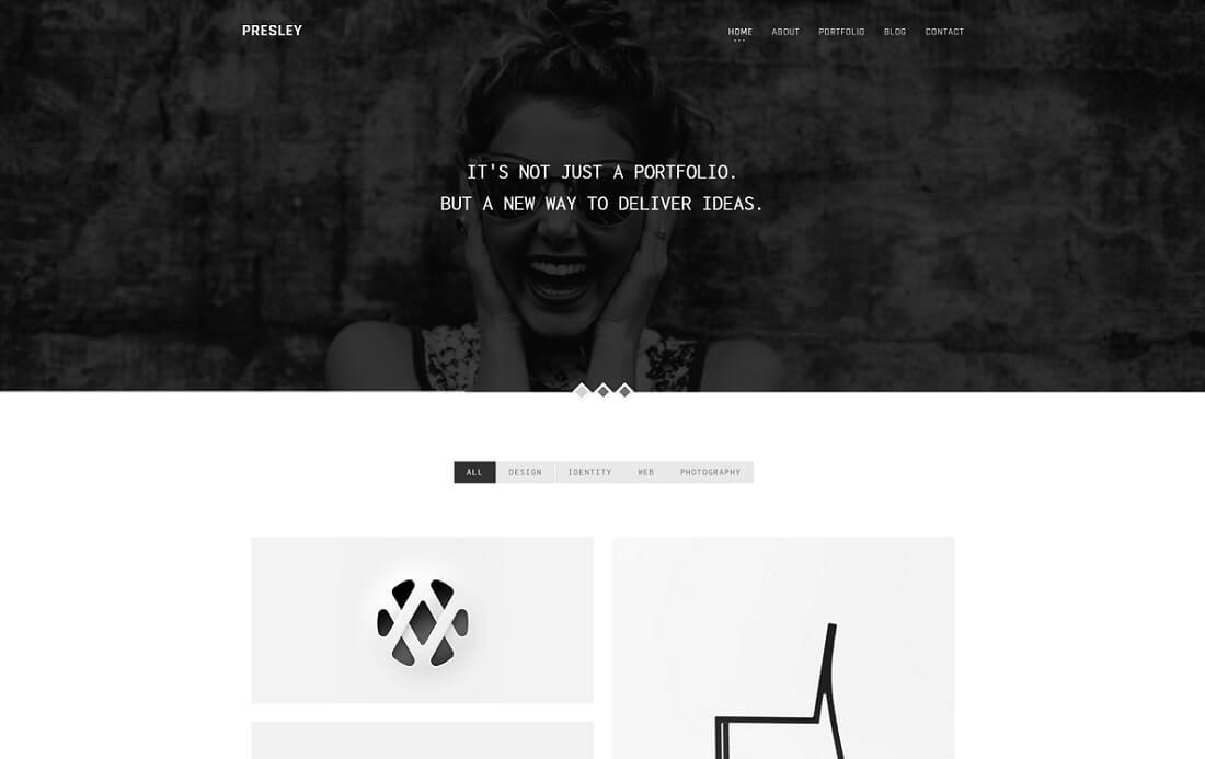 presley artist website template
