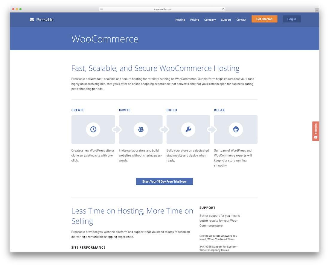 pressable hosting for woocommerce