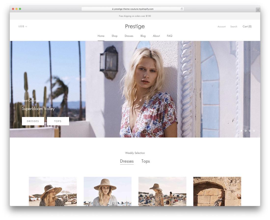 prestige boutique shopify theme