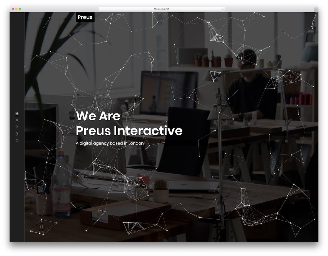 preus artist website template
