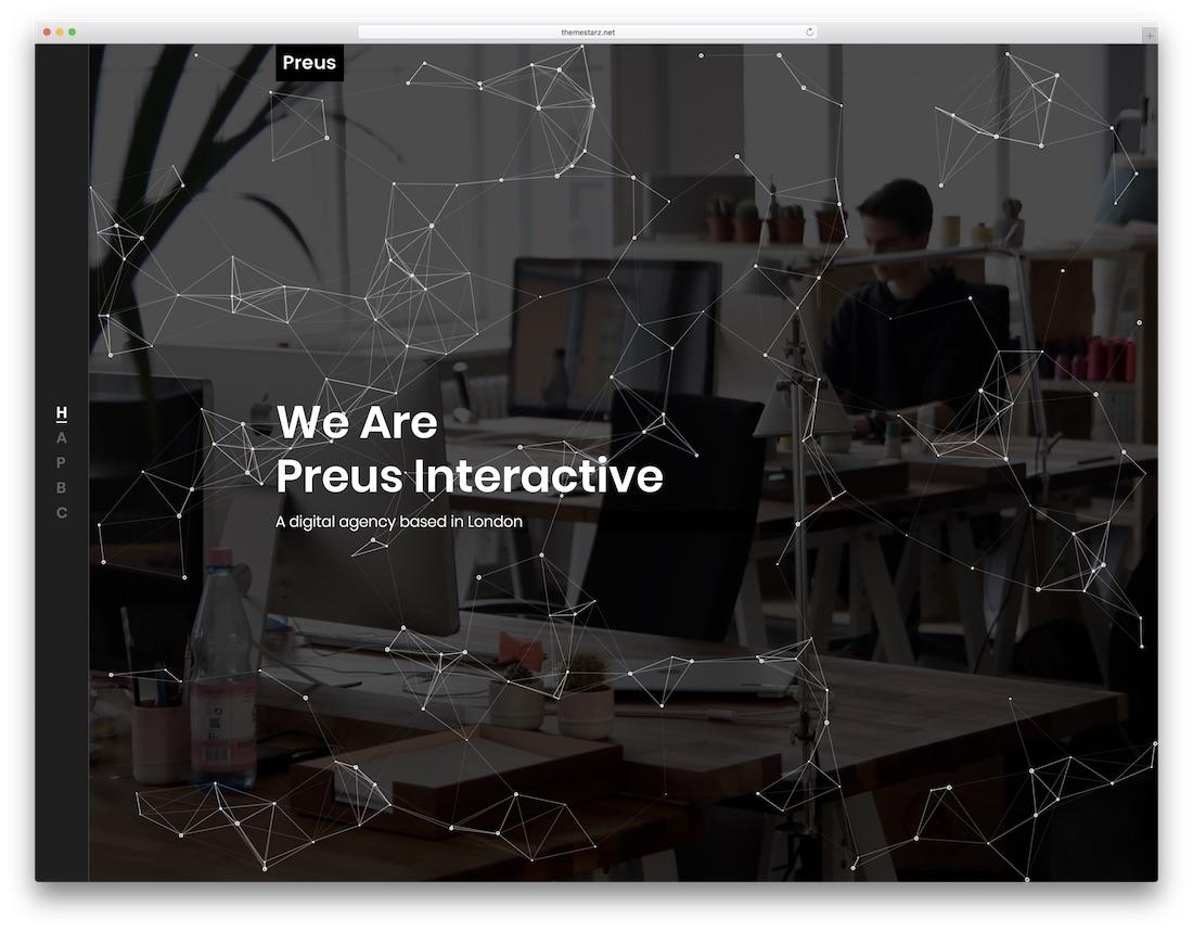 preus bootstrap portfolio website template