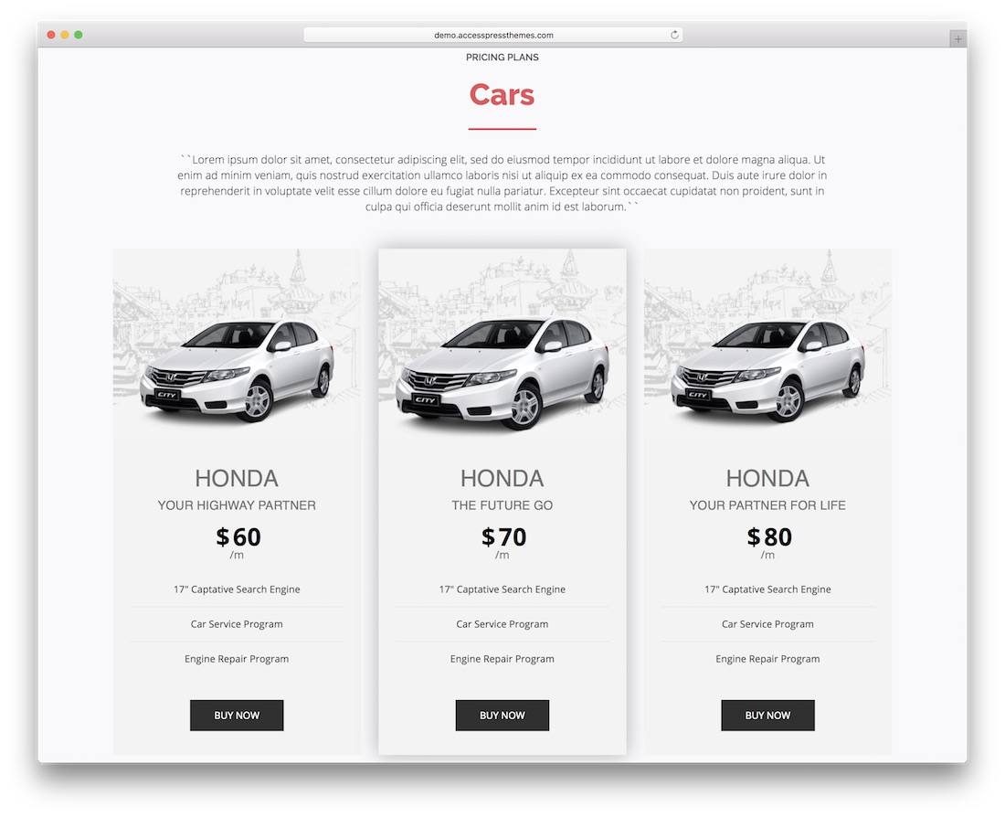 pricing tables addon for visual composer wpbakery wordpress plugin