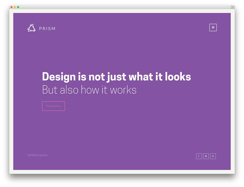 prism - minimal portfolio theme