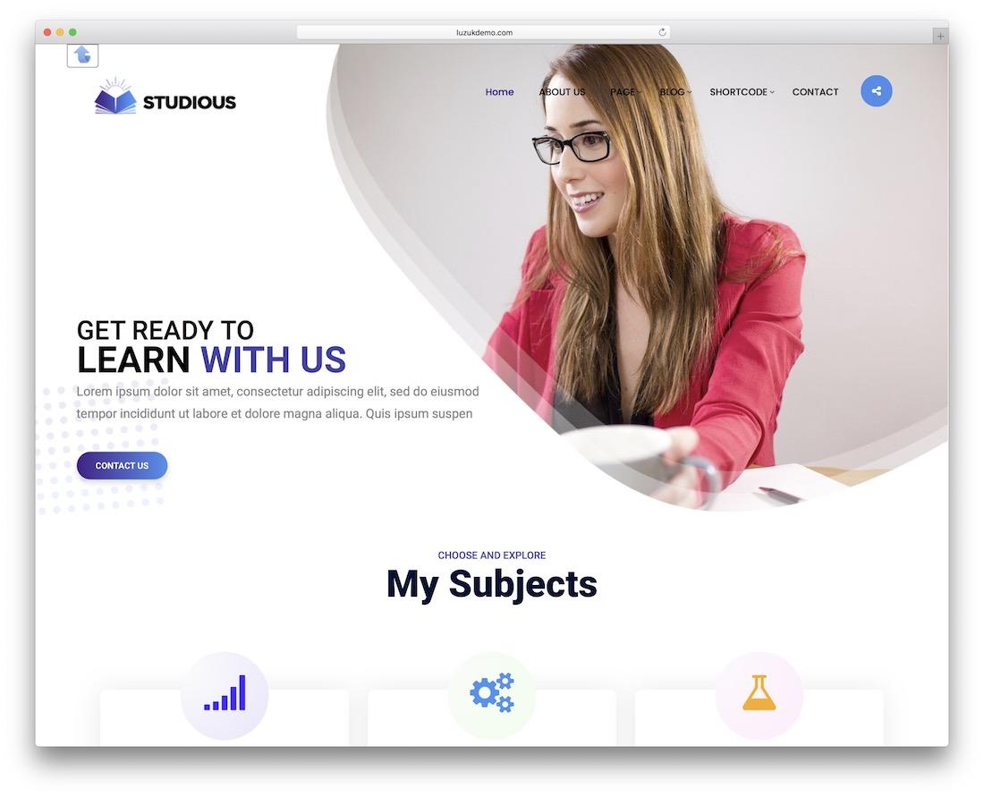 private tutor free bootstrap wordpress theme