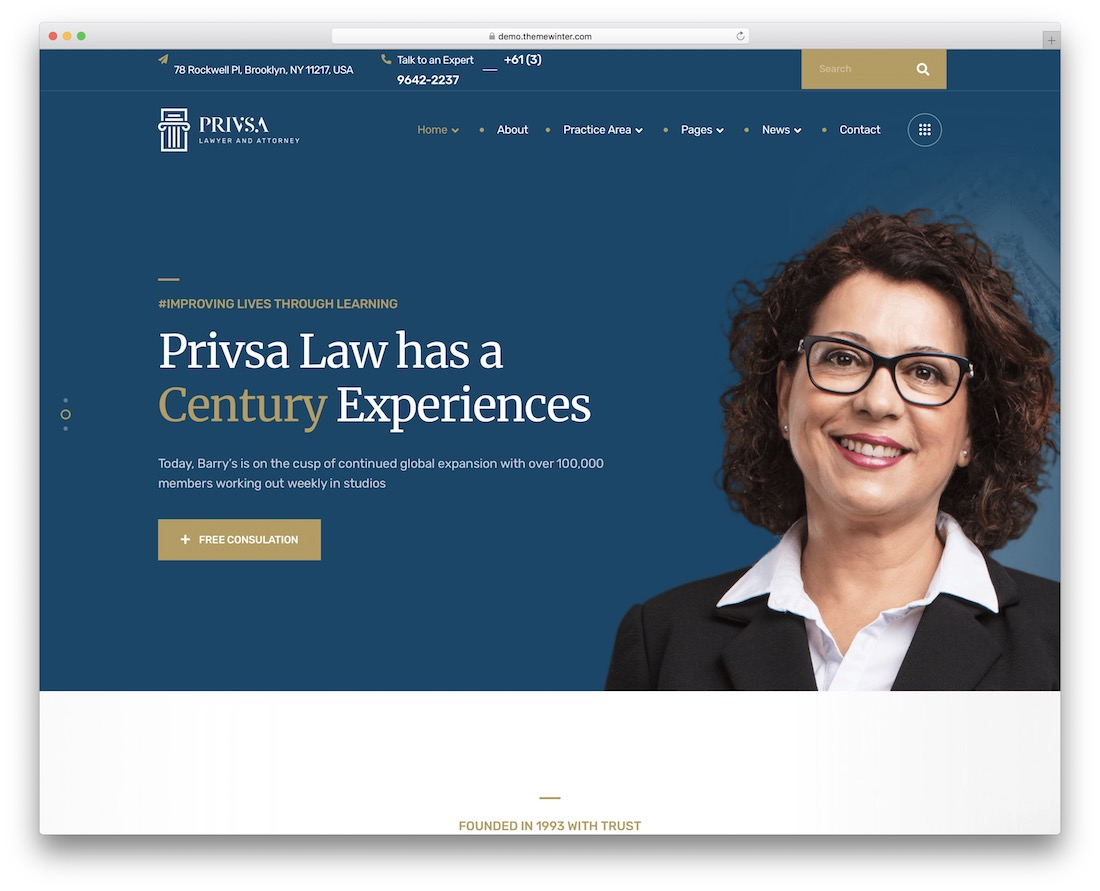 privsa lawyer wordpress theme