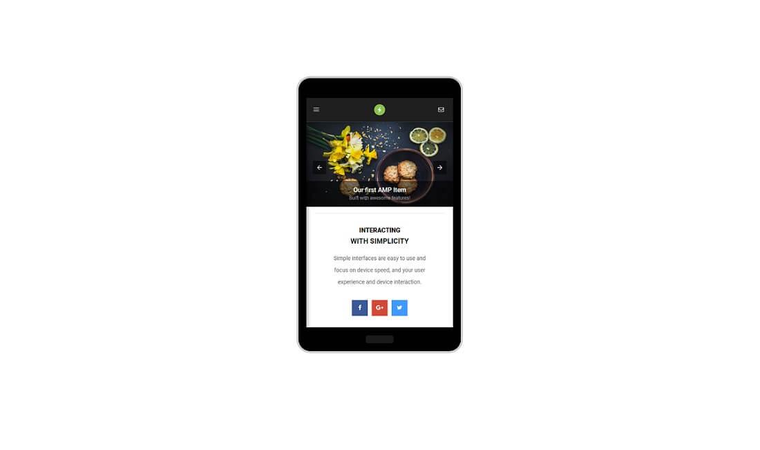 pro mobile amp template