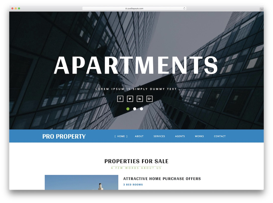 pro property directory website template