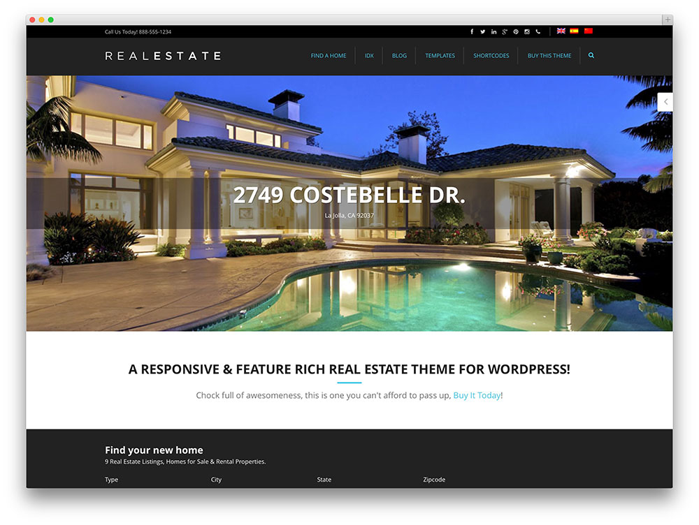 Image Result For Best Real Estate WordPress Themes For Agencies