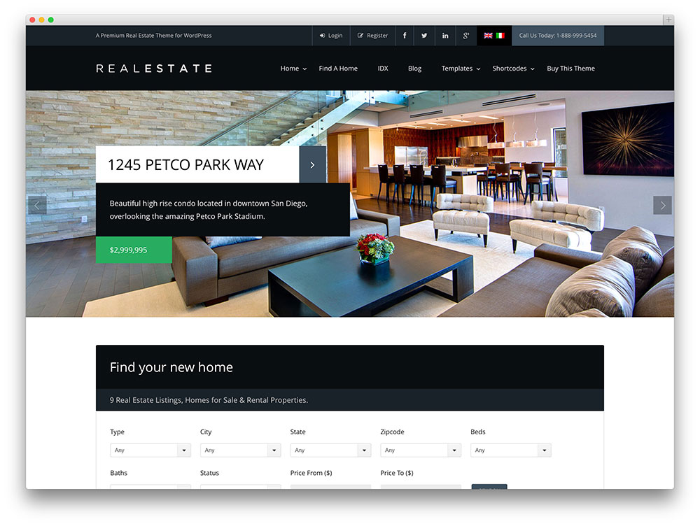 pro real estate 6 WordPress theme