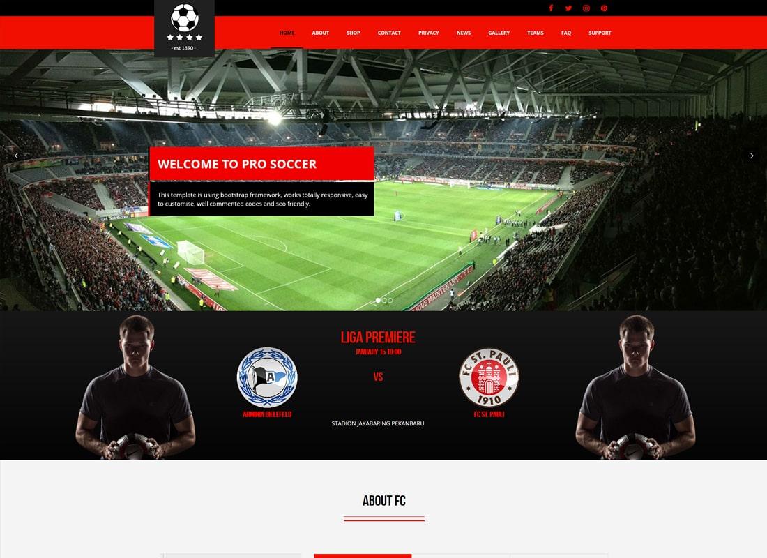 Football Club | Football, Soccer WordPress Theme