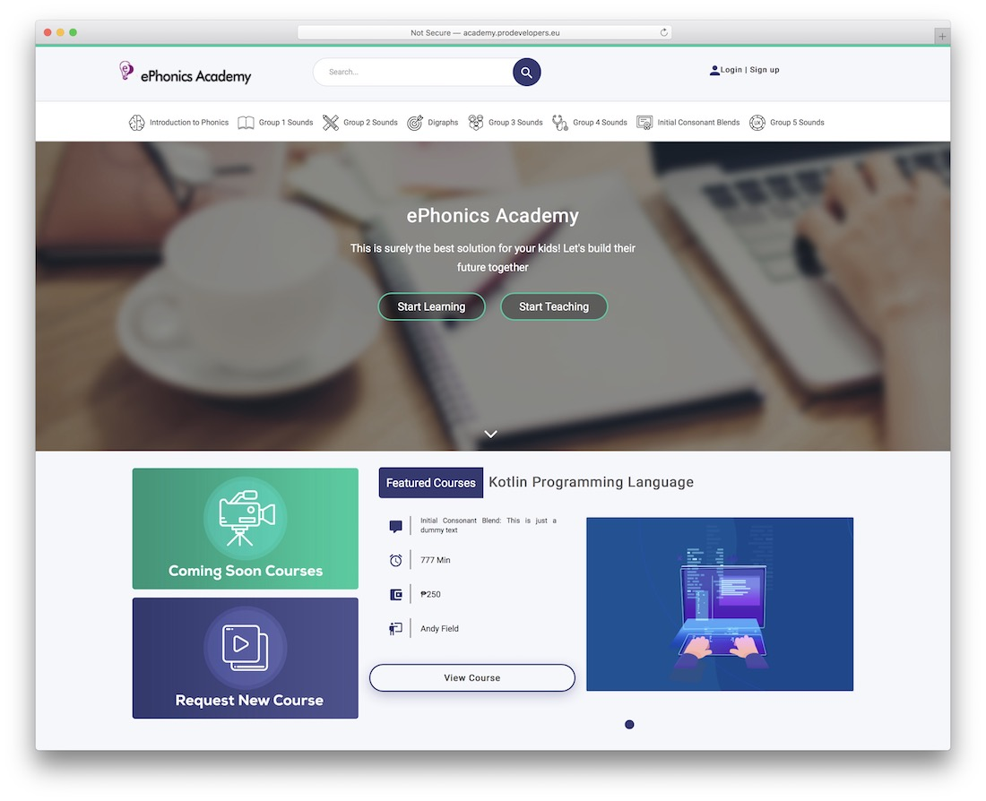proacademy online course wordpress plugin