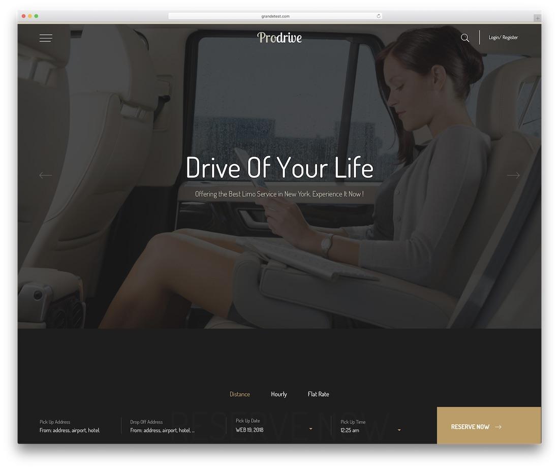 prodrive automotive website template