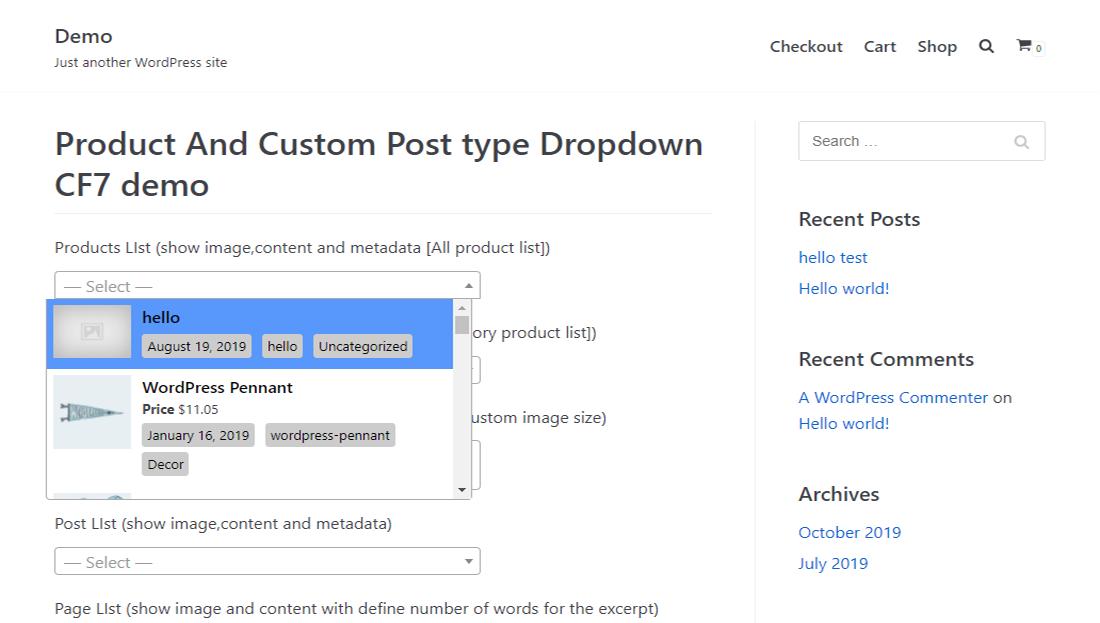 Labeled WordPress Dropdown Menu Plugin