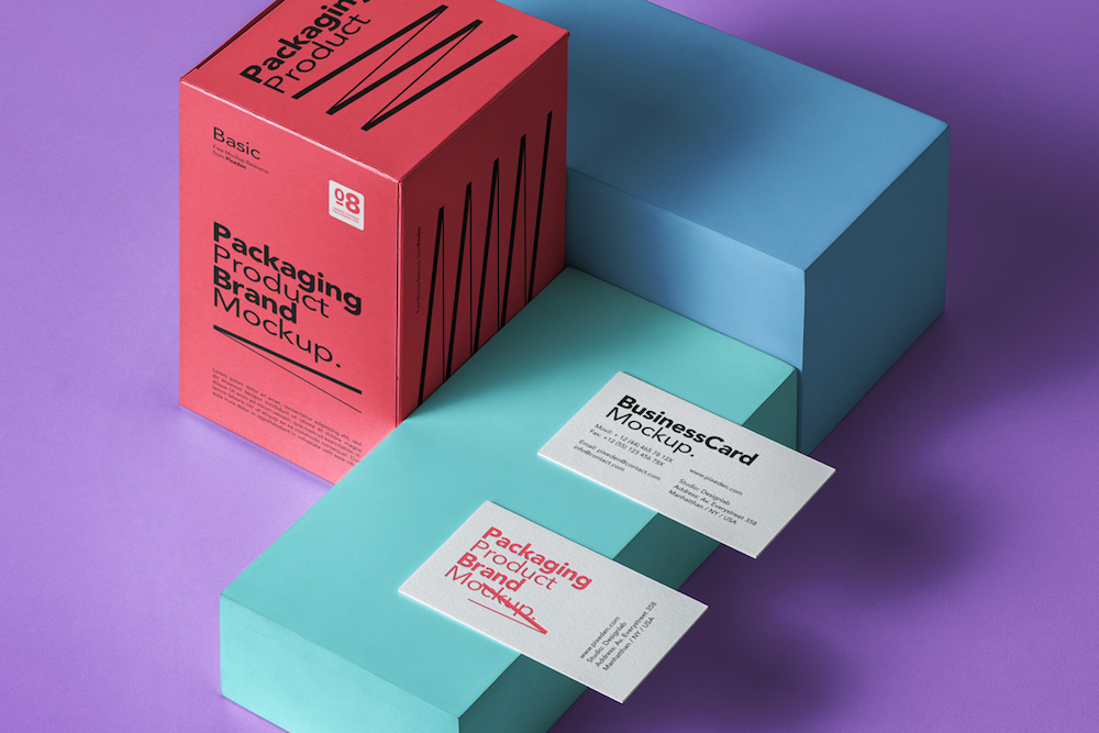 product packaging box psd mockup
