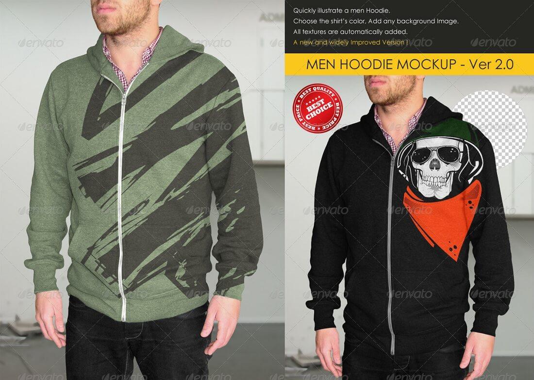 professional men hoodie mockup