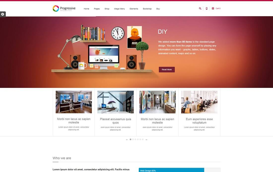 progressive drupal business template